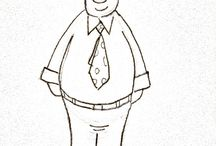 Konzernbewohner / Business People Cartoon Sketches