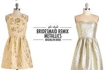 Bridesmaids Dress Ideas / Neutral colored bridesmaids gowns with some sparkle.  / by Lauren Brown