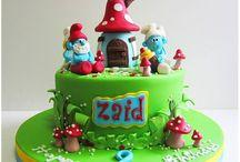 smurfs cakes