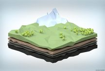 Isometric / Low Poly 3D