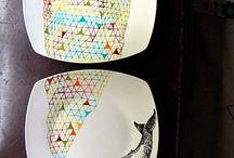 Arty plates