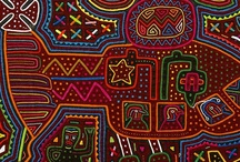 Mola / Fabric appliqué art made by the Kunayala women of Panamá