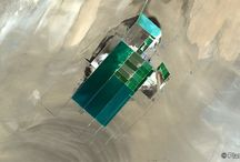Blue / Satellite images with the most amazing turquoise blue colours across the world. www.planetobserver.com