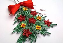 Quilling Christmas decorations / Quilling