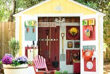 Sheds . . . Small Buildings / Garden Sheds and Potting Sheds. Storage sheds, tool sheds too! / by Back Yard Ideas