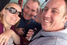 Balloon Passengers / In-flight selfies from some of the many people we've had in our baskets taking life higher...
