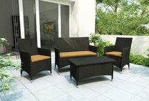 Outdoor Living / Patio Sets, umbrellas, and loungers. Everything you need to have the perfect backyard or patio.