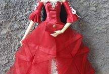 Red Gown for Resin Enchanteddoll