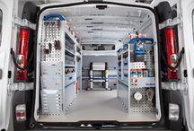 Work van interior