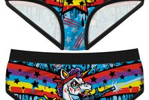 Period Panties / Underwear that high-fives you for having ovaries!  Period Panties are made of 95% combed cotton and 5% elastane and 100% awesome. They're available in two different styles: our classic boy-briefs style cut, and our comfy boyshorts! Both styles feature a black double-lined front and crotch panel.