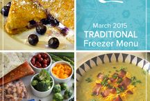 Traditional March 2015 Freezer Menu / by Once A Month Meals