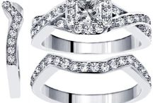 1.65 CT TW Braided Princess Cut Diamond Engagement 3 Band Bridal Set in 14k White Gold