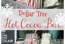 hot cocoa bar/ birthday party ideas