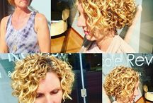 Curly hair with perms