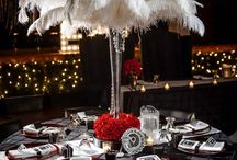 ball table decorations / the broad theme of the ball this year is red and gold, inspired by hollywood glamour. please add any images you find that you think fit this brief, table decorations and centrepieces are especially appreciated! :)