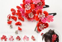Chirimen hair accessory for Shich-go-san festival