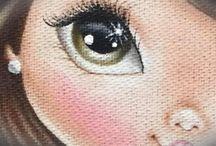 ❤ROSTOS-Fazer Pintar Bonecas(Os)❤-veräphi