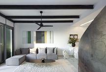 Indoor Ceiling Fan Installations / Indoor installations of the Star Propeller modern ceiling fan.