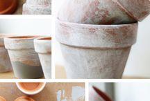 terracotta tuinpotte geverf