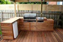Outdoor BBQ setup