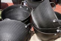 recycled tire pots