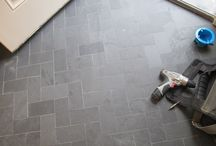 Front hallway tile