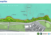 Morgan Shoal Project / This the rendering for improvements at Burnham Park between 45th Street and 51st Street.  The plan includes recreational opportunities, bird and fish habitat, and shoreline protection. / by Chicago Park District