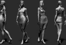 3D figure models