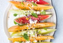 Plating fruit & salad