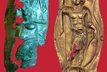 Ancient armours  Roman armours / Roman armour - Lorica squamata - Lorica hamata - Lorica segmentata - Roman armor scales - Roman horse chamfron  - Roman horse armour - Roman greave - Legionary