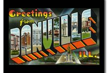 Greetings from Danville Ill. / Photos of Danville Illinois, where my brother John and I grew up. We're collecting these for our WIP memoir, tentatively titled GREETINGS FROM DANVILLE ILL