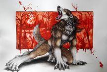 A wolf beast