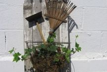 Rustic shovels, tools and awesome things