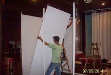 Pemasangan Partisi Hotel Grand Mercure / pemasangan partisi di hoten grand mercure.  kami menyewakan dan menjual stan, partisi, panel foto, backdrop untuk kebutuhan pameran.hub: 085280647743