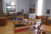 Montessori environment / photos of various sections of the prepared environment in montessori children's houses.
