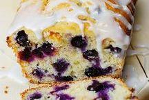 blueberry vanilla bread w/lemon glaze