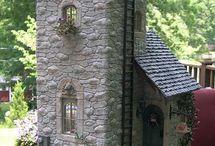 Casas de piedra en miniatura