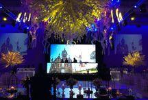 Cumple de 15 FAENA ART CENTER / Decoración fiesta de 15. Puesta aérea con medusas