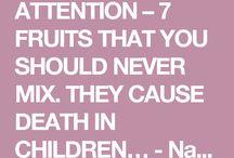 Frugt du ikke må blande