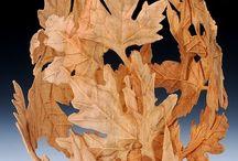 création vase feuilles