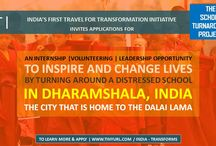 School Turnaround Project / APPLICATIONS INVITED | The School Turnaround Project | India 2015 India's first travel for transformation initiative – IFT - invites applications for The School Turnaround Project, a transformative volunteering-cum-internship opportunity based out of Dharamshala, the city of the Dalai Lama. http://tinyurl.com/india-transforms