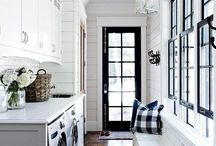 MUDROOM | LAUNDRY / modern farmhouse entryway, front hall storage, mudroom cabinets. modern traditional designs
