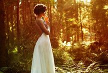 forest bride shoot