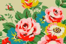 Flowers / Fine art, illustrations, folk art, surface patterns of pretty flowers