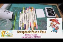 Scrapbook paso a paso. Aprende a colorear sellos con marcadores Distress