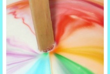 Homeschool: Rainbows / Kids love rainbows! They are fun to color and make Science Experiments too!