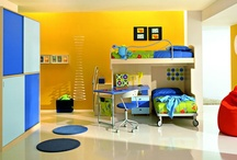 """Decorate: Boys' room ideas / I want something that is """"BOY"""" for the boys' room, but also something not too kiddie so that it grows with them.  Of course, superheroes are ageless. I suspect even my husband secretly wants a Captain America room."""