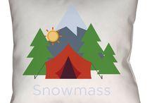 Snowmass, Colorado Throw Pillows