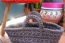 capazos o bolsos crochet