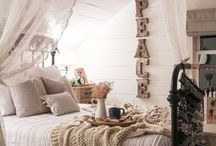 Bedroom Decoration / #HomeDecorationIdeas #BedroomDecoration #Cozy #Country #Chic #Romantic